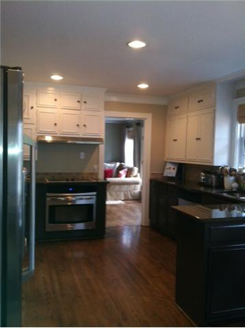 A large remodeled kitchen awaits the chef inside!