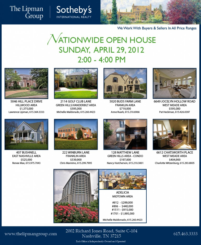 The Lipman Group Sotheby's International Realty Participates in 2012 Nationwide Open House