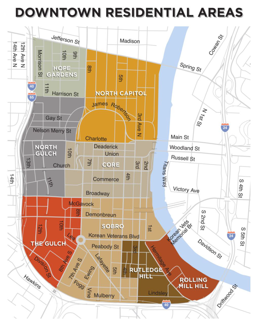Downtown Nashville Residential Areas