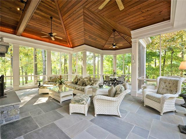 This estate for sale in Belle Meade has so many wonderful private spaces and areas for entertaining like this screened in porch with a ceiling that is almost as beautiful as its natural surroundings.  Click on the image for more information from The Lipman Group Sotheby's International Realty.