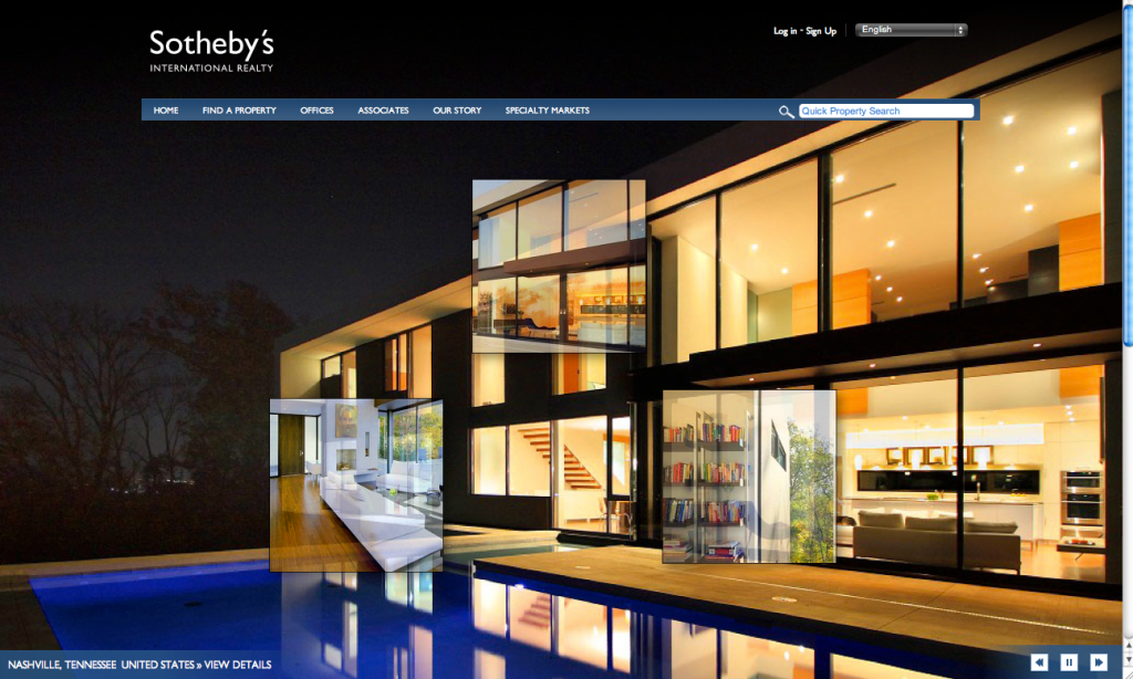 Modern Nashville Estate Featured on Sotheby's International Realty Home Page