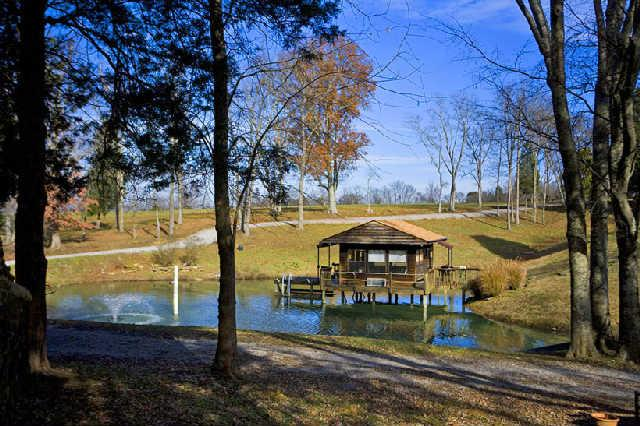 A perfect manly escape - a private pond and dock house on 39 acres in Lebanon, TN.  Offered by Chris Mannino of The Lipman Group Sotheby's International Realty for $2,950,000. Click on the image for more information and additional photos.