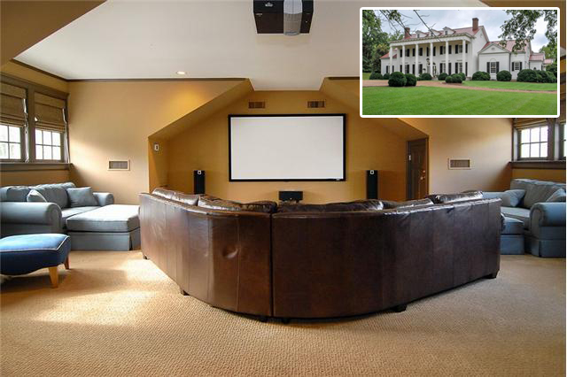 This graceful Southern estate in Belle Meade offers a comfortable media room that can seat a large crowd. Offered at $4,500,000. Click on the photo for more information and additional photos from The Lipman Group Sotheby's International Realty.