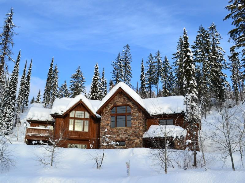 Located in Whitefish, Montana this gorgeous custom home with four bedrooms and four baths includes all furnishings. Close to the Day Lodge at Whitefish Mountain Resort, this unique location is just across from the cross country ski trails and mile of bike trails. Click on the image for more photos and information from skipropertysir.com.