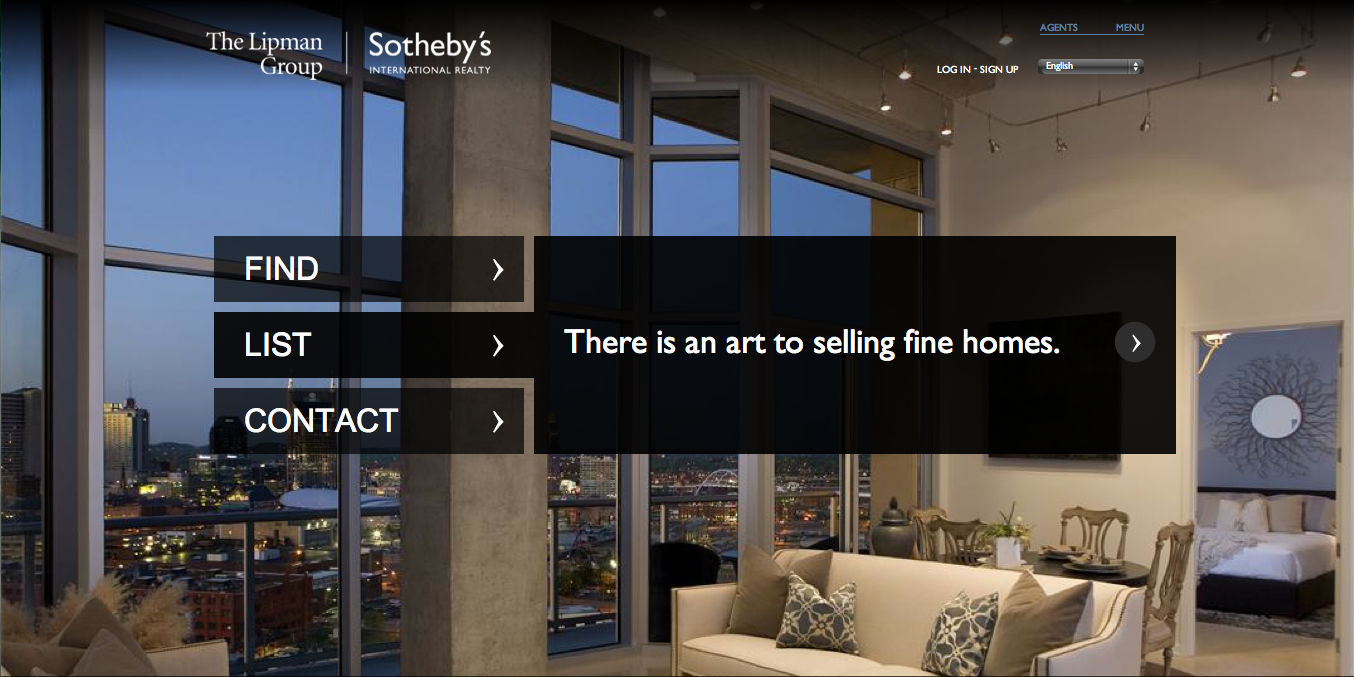 The Lipman Group Sotheby's International Realty New Game-Changing Website to search Nashville real estate