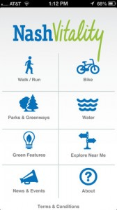 The NashVitality app is your mobile guide to a healthy, active and green lifestyle in Nashville, Tennessee.
