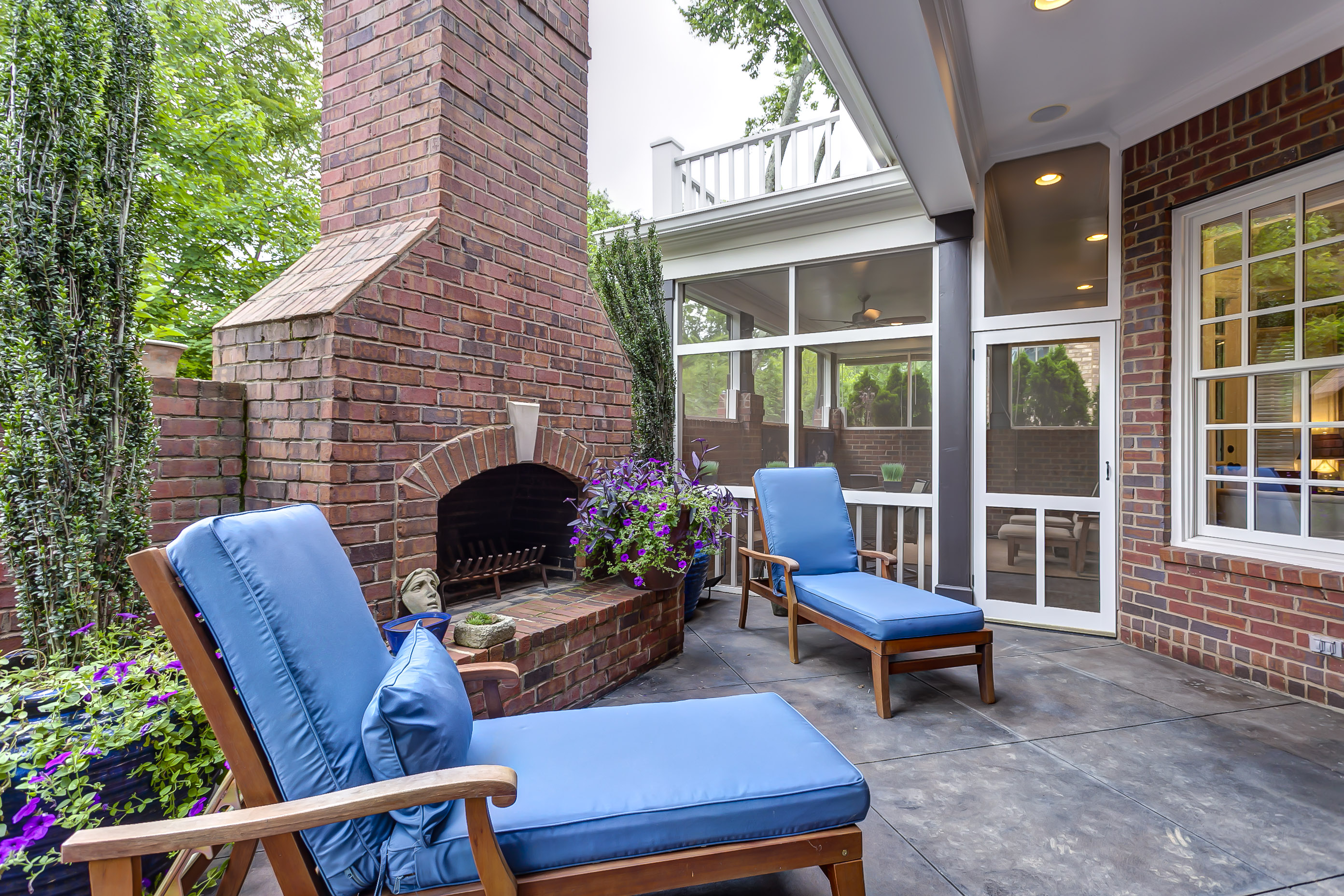 Built-In Outdoor Fireplace - Nashville Home for Sale