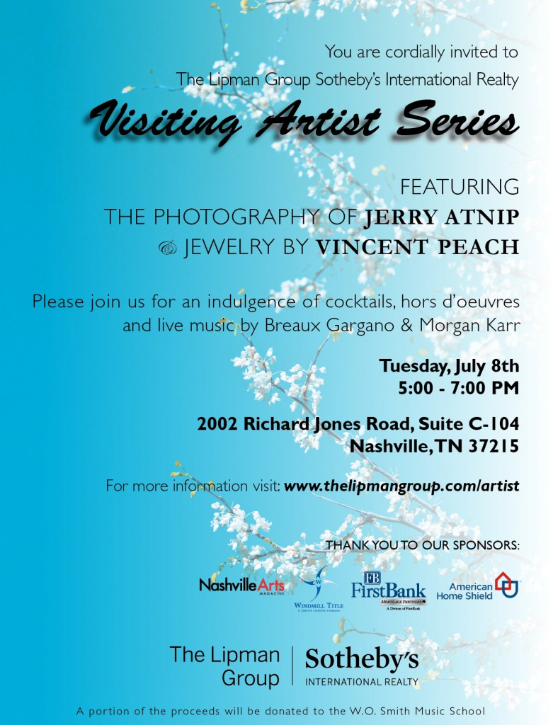 Join us Tuesday, July 8 for our Visiting Artist Series