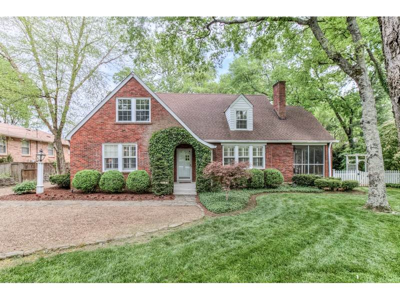 Tudor Style Homes for Sale in Nashville - Picturesque Tudor in Nashville's Green Hills